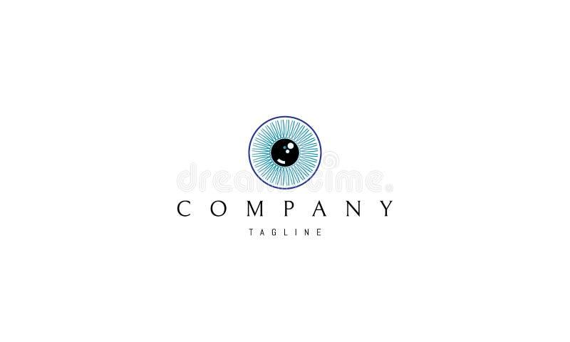Immagine di logo di vettore dell'occhio illustrazione di stock