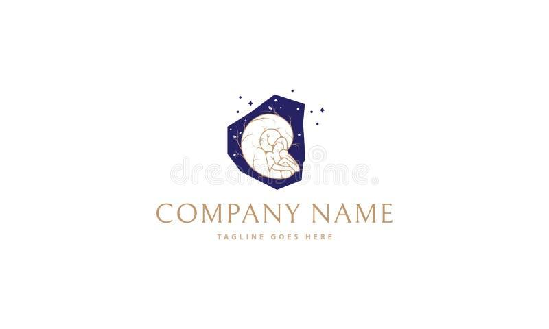 Immagine di logo di vettore di maternità illustrazione vettoriale
