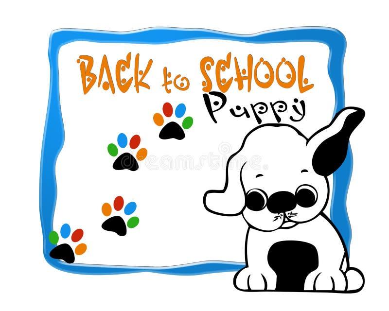 Immagine di progettazione del fondo della scuola del cucciolo fotografia stock libera da diritti