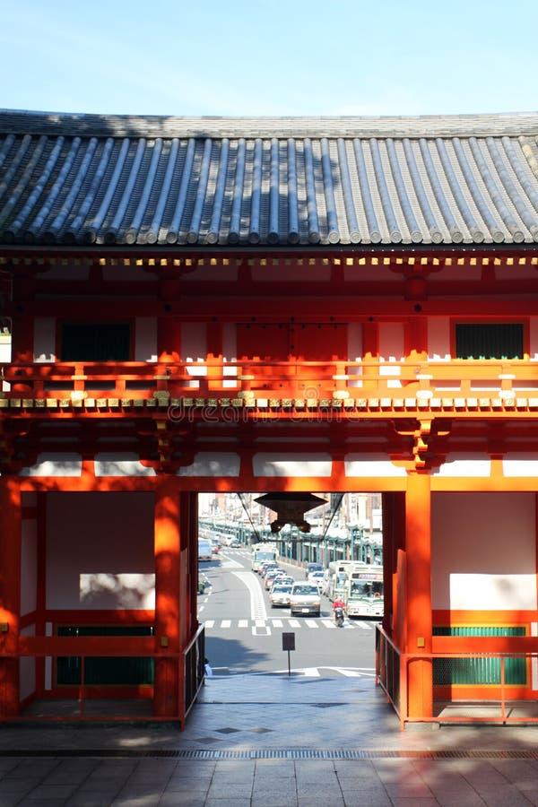 Immagine di riserva del santuario di Yasaka, Gion District, Kyoto, Giappone fotografie stock