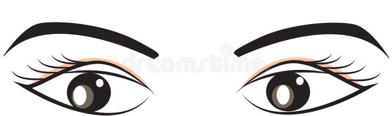 Immagine di riserva: Occhi e sopracciglia royalty illustrazione gratis
