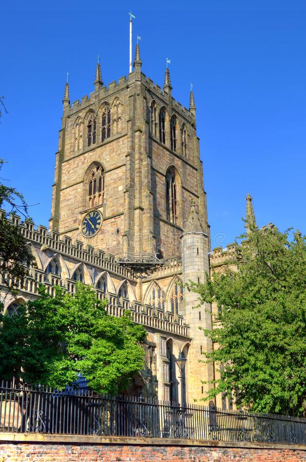 Immagine di riserva di vecchia architettura a Nottingham, Inghilterra immagini stock