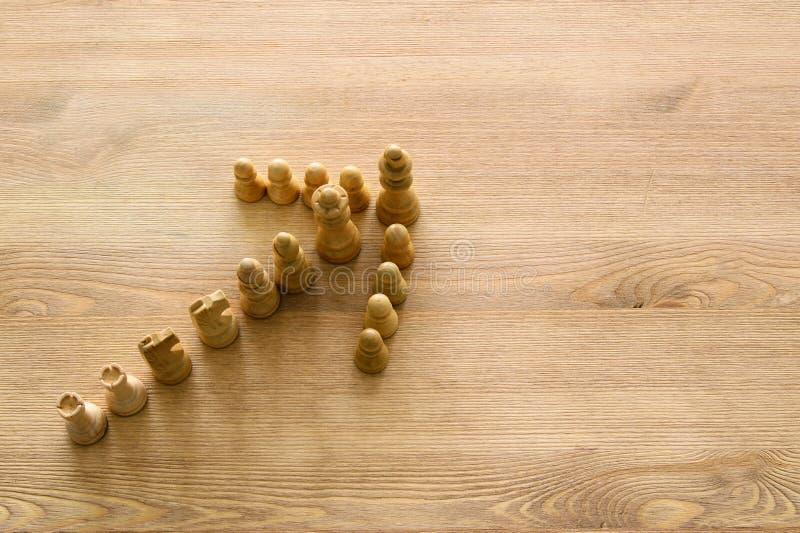 Immagine di scacchi Affare, concorrenza, strategia, direzione e concetto di successo fotografia stock libera da diritti