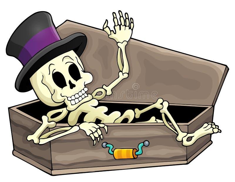 Immagine di scheletro 3 di tema illustrazione vettoriale