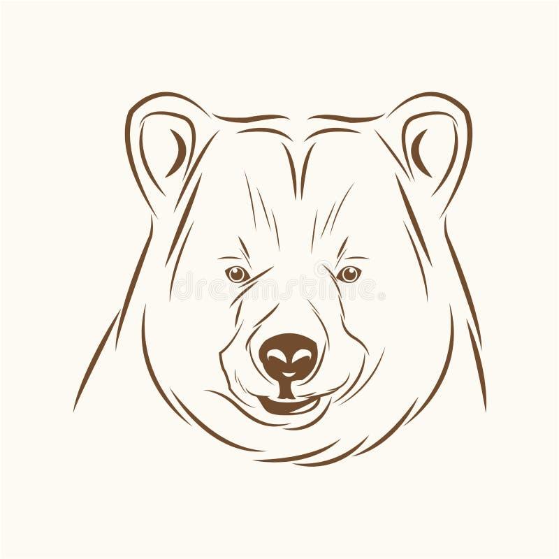 Immagine di schizzo dello spirito libero dell'orso illustrazione vettoriale