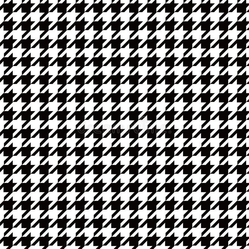 Immagine di sfondo in bianco e nero del modello di pied de poule senza cuciture illustrazione vettoriale
