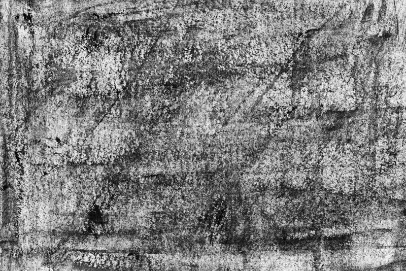 Immagine di sfondo in bianco e nero, struttura Priorità bassa strutturata Pareti decorative del gesso, decorazione esterna della  fotografia stock