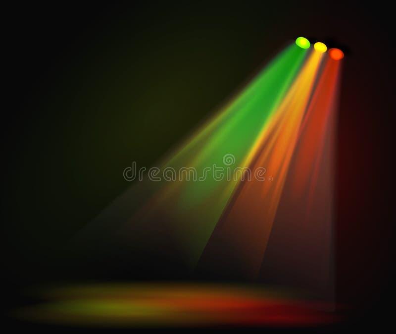 Immagine di sfondo dei riflettori con la fase a colori - Immagine di terra a colori ...