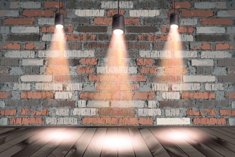 Immagine di sfondo della parete scura con il punto luminoso royalty illustrazione gratis