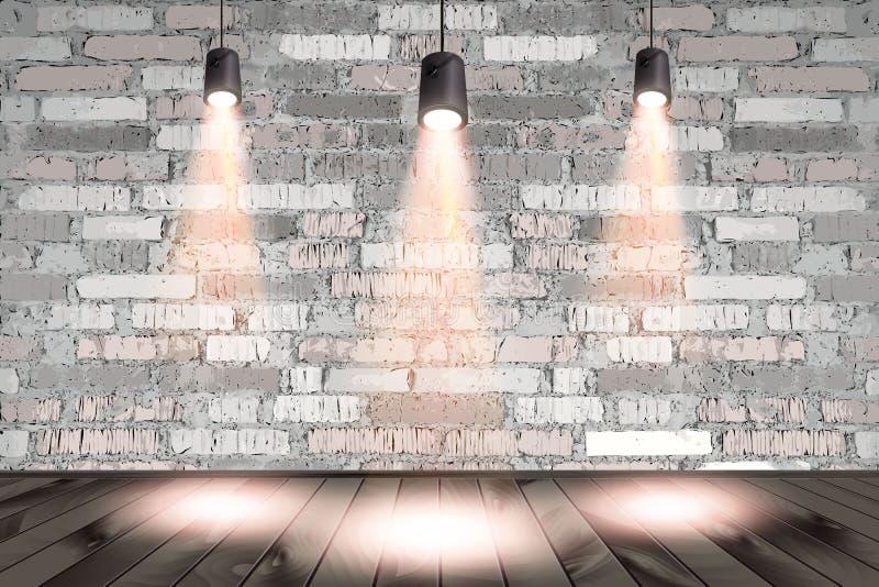 Immagine di sfondo della parete scura con il punto luminoso illustrazione vettoriale