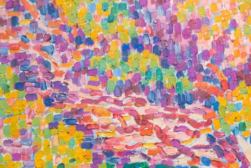 Immagine di sfondo della tavolozza luminosa della olio-pittura fotografia stock libera da diritti