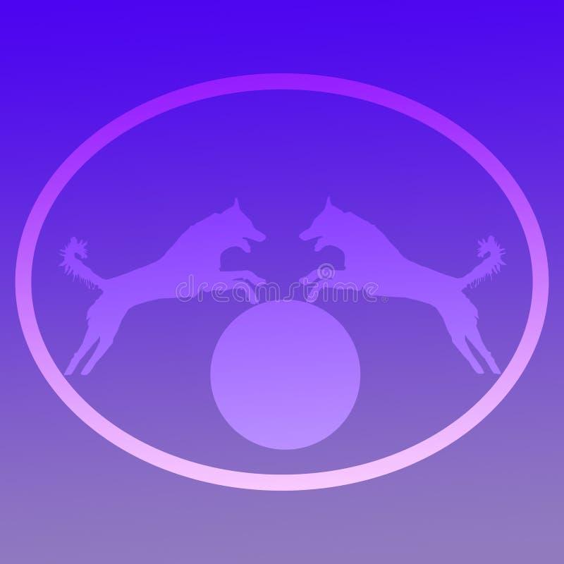 Immagine di sfondo Logo Jumping Dog fotografie stock