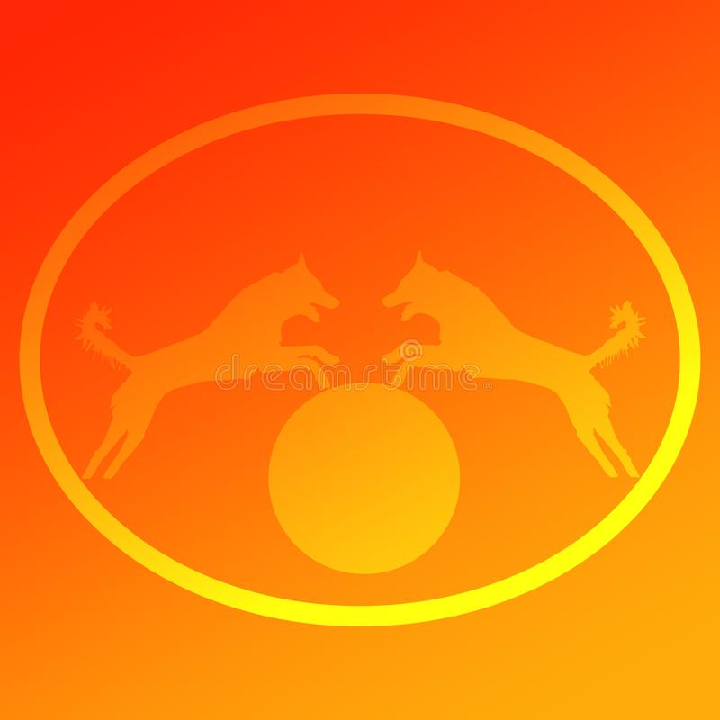 Immagine di sfondo Logo Jumping Dog fotografia stock libera da diritti