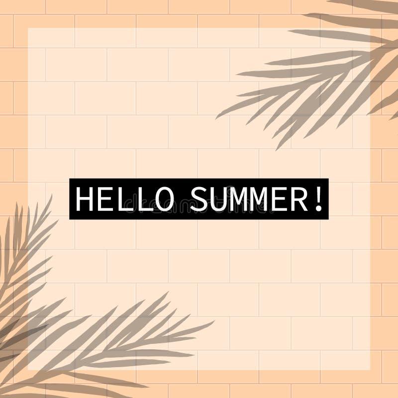 Immagine di sfondo di tema tropicale di vettore di vacanza estiva illustrazione di stock