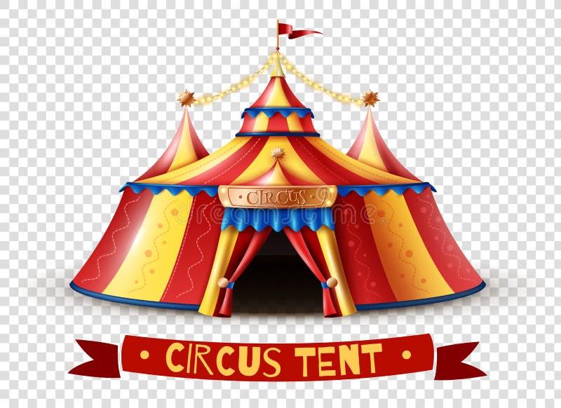 Immagine di sfondo trasparente della tenda di circo illustrazione vettoriale