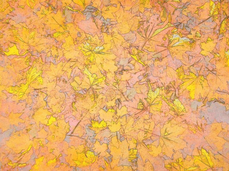 Immagine di sfondo variopinta del fumetto delle foglie di autunno luminose immagine stock