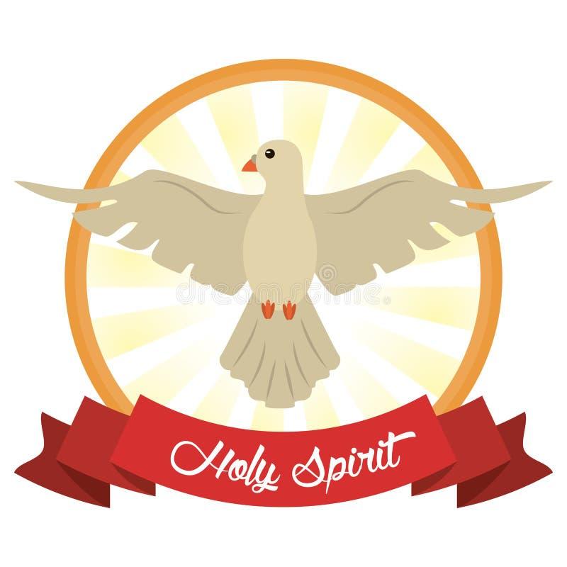 Immagine di speranza di fede di Spirito Santo illustrazione vettoriale