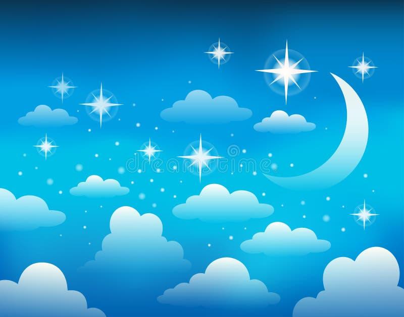 Immagine 1 di tema del cielo notturno royalty illustrazione gratis