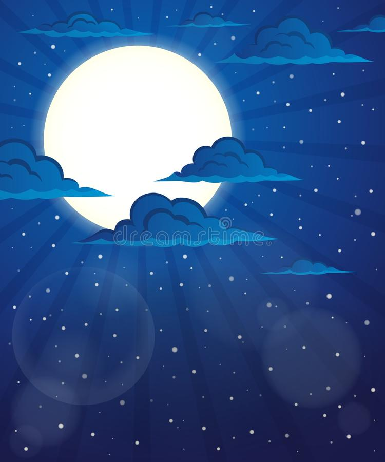 Immagine 5 di tema del cielo notturno illustrazione di stock