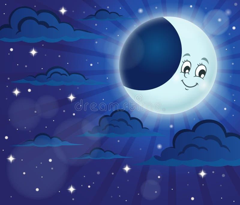 Immagine 6 di tema del cielo notturno illustrazione vettoriale