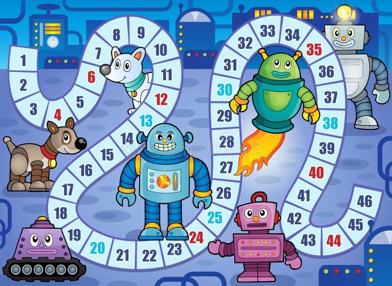 Immagine 7 di tema del gioco da tavolo illustrazione vettoriale