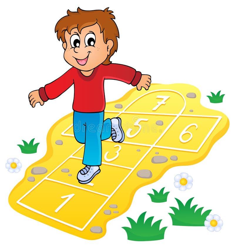 Immagine 8 di tema del gioco dei bambini illustrazione di stock