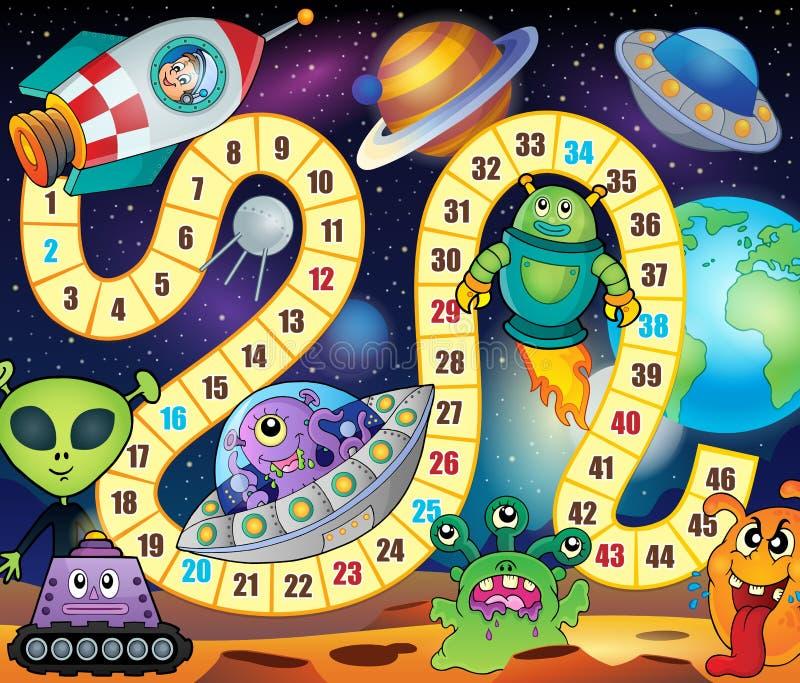 Immagine 1 di tema del gioco dello scrittorio illustrazione vettoriale