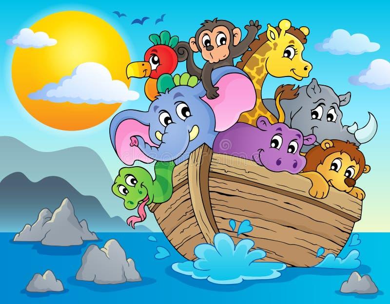 Immagine 2 di tema dell'arca di Noahs illustrazione vettoriale