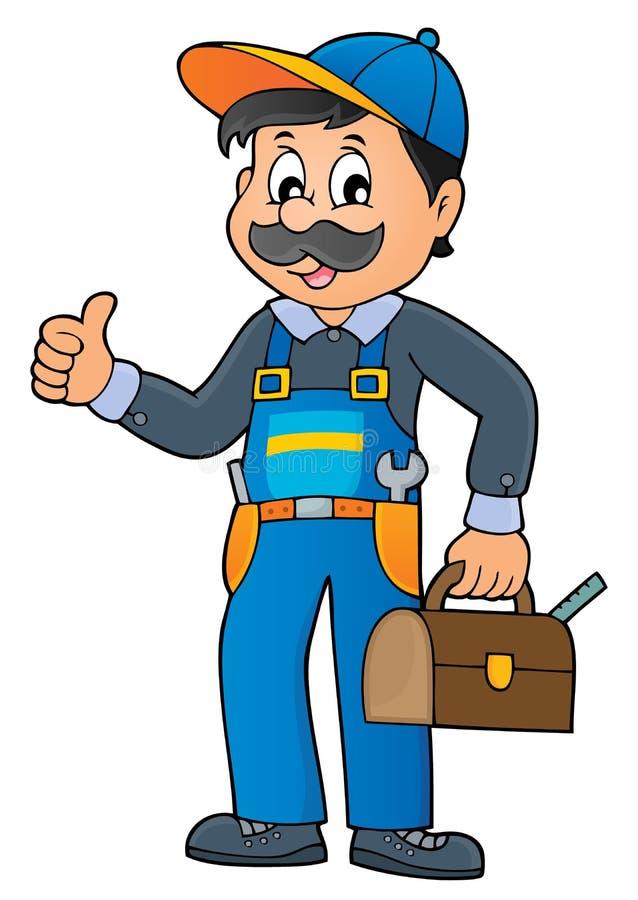 Immagine 1 di tema dell'idraulico illustrazione di stock