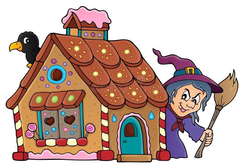 Immagine 2 di tema della casa di pan di zenzero illustrazione di stock
