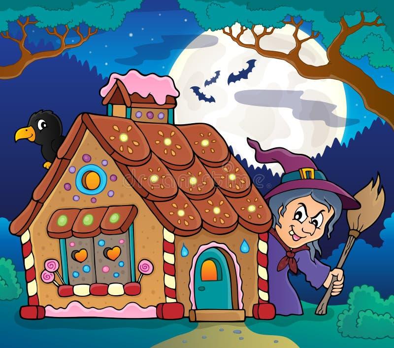 Immagine 4 di tema della casa di pan di zenzero illustrazione di stock