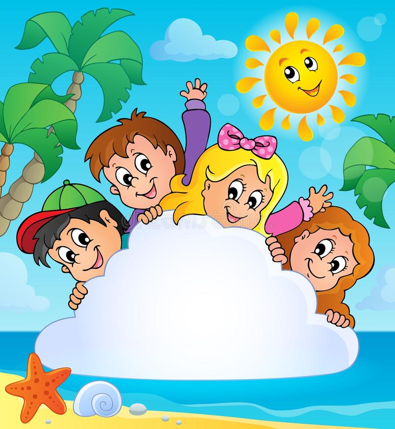 Immagine 1 di tema di vacanze estive royalty illustrazione gratis