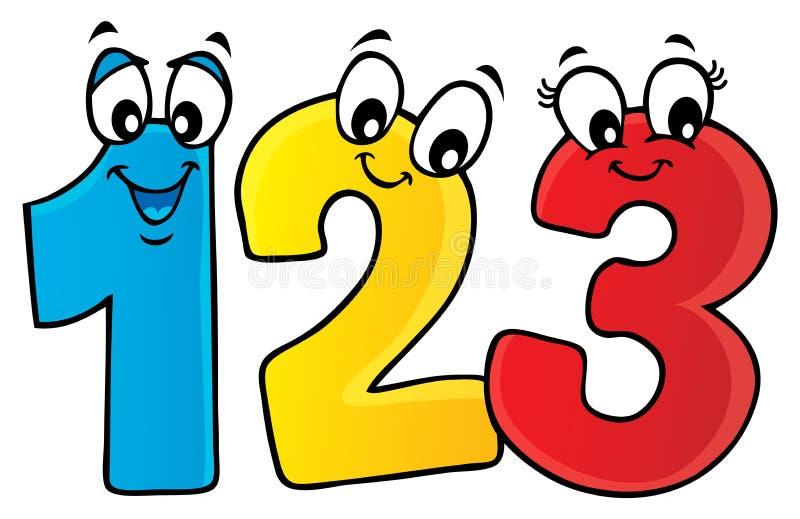 Immagine 1 di tema di numeri del fumetto illustrazione vettoriale