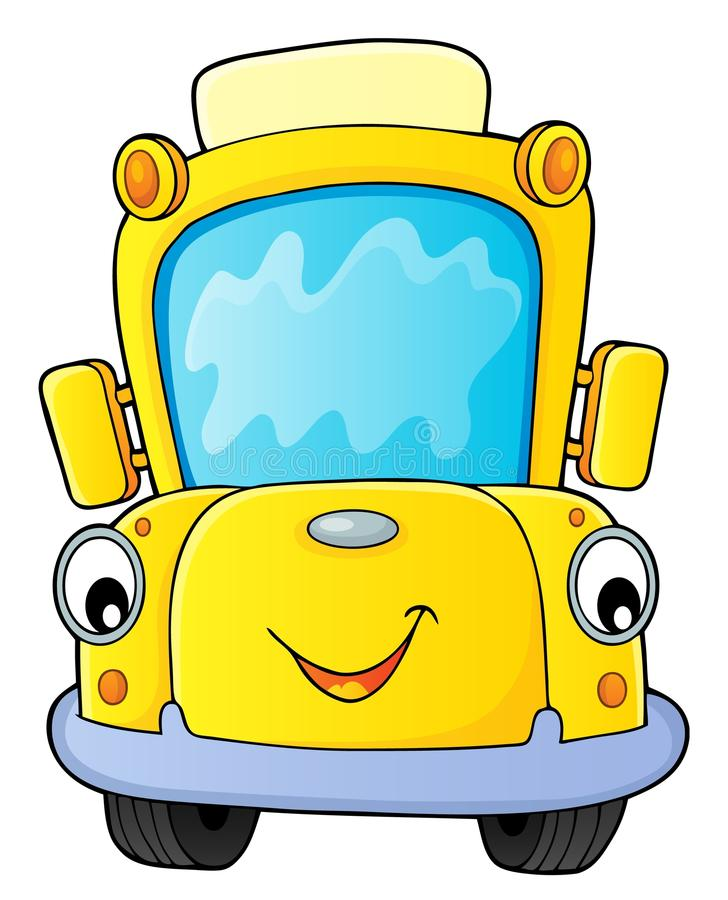 Immagine 4 di tematiche dello scuolabus illustrazione vettoriale