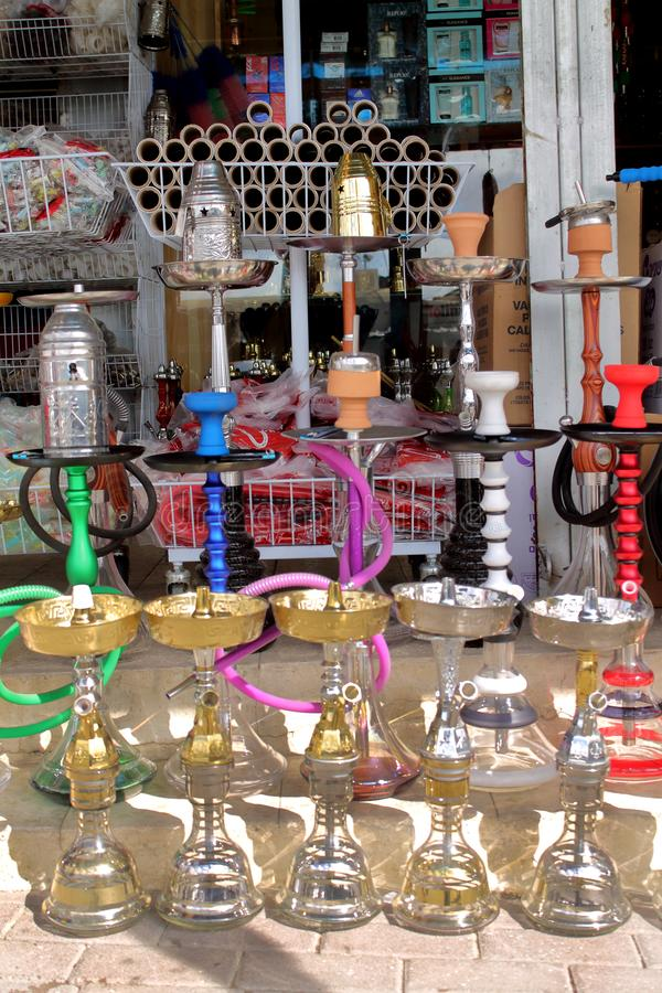 Immagine di un negozio del narghile immagine stock