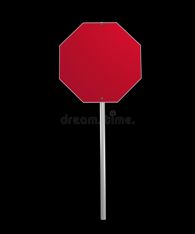 Immagine di un segno in bianco fotografie stock