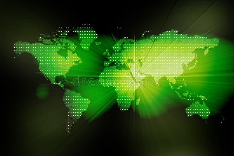 Immagine di una mappa di mondo digitale royalty illustrazione gratis