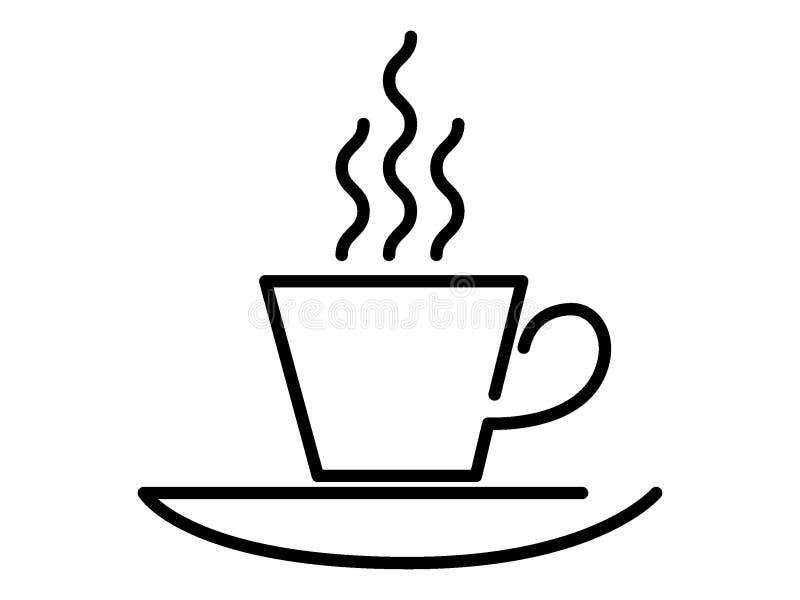 Immagine di una tazza di caffè illustrazione di stock