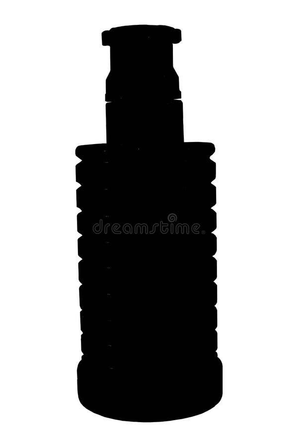 Immagine di vecchia granata manuale su bianco royalty illustrazione gratis