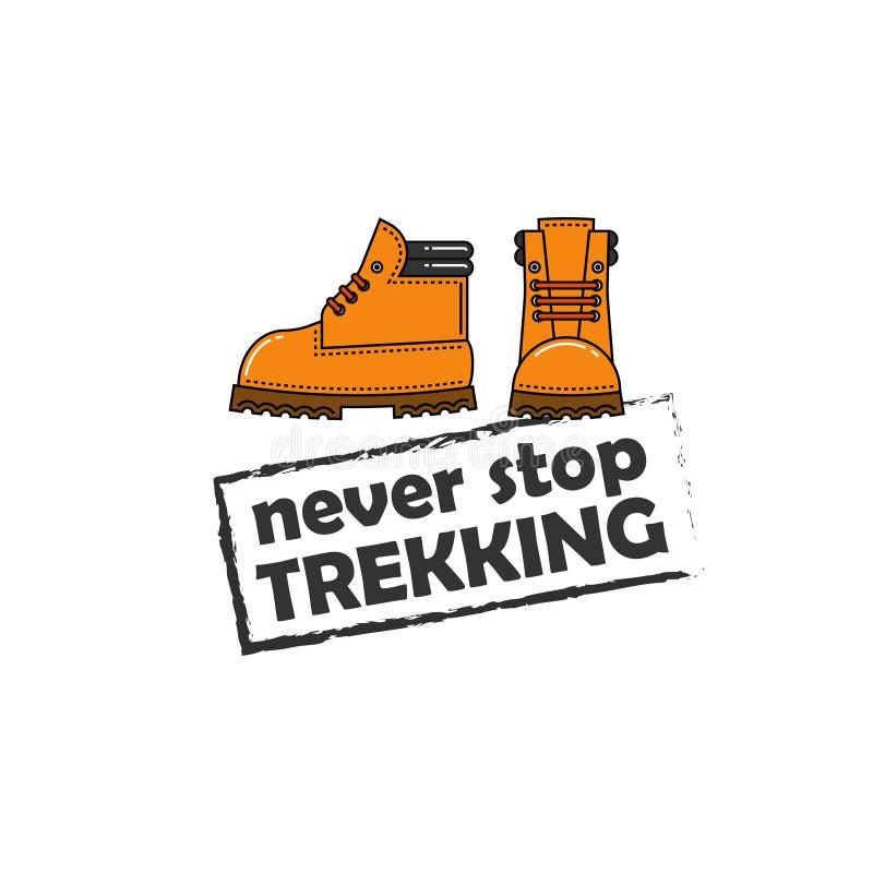 Immagine di vettore degli stivali arancio di trekking illustrazione vettoriale