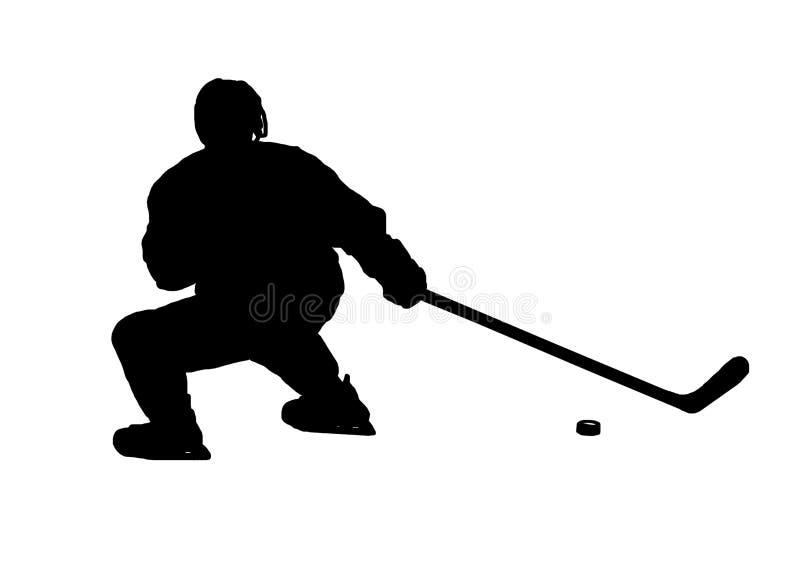 Immagine di vettore del giocatore di hockey su ghiaccio illustrazione vettoriale