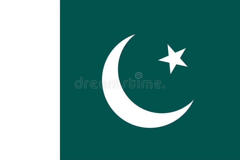 Immagine di vettore della bandiera del Pakistan illustrazione vettoriale