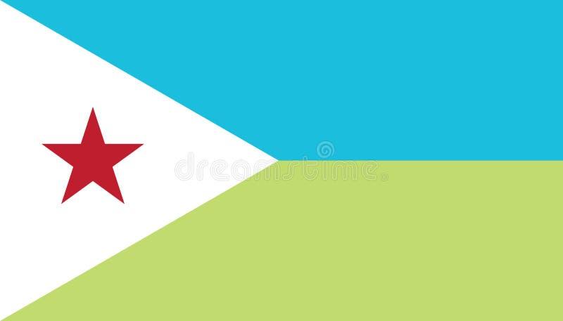 Immagine di vettore della bandiera di Gibuti illustrazione di stock