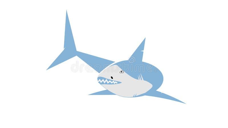Immagine di vettore dello squalo fotografie stock