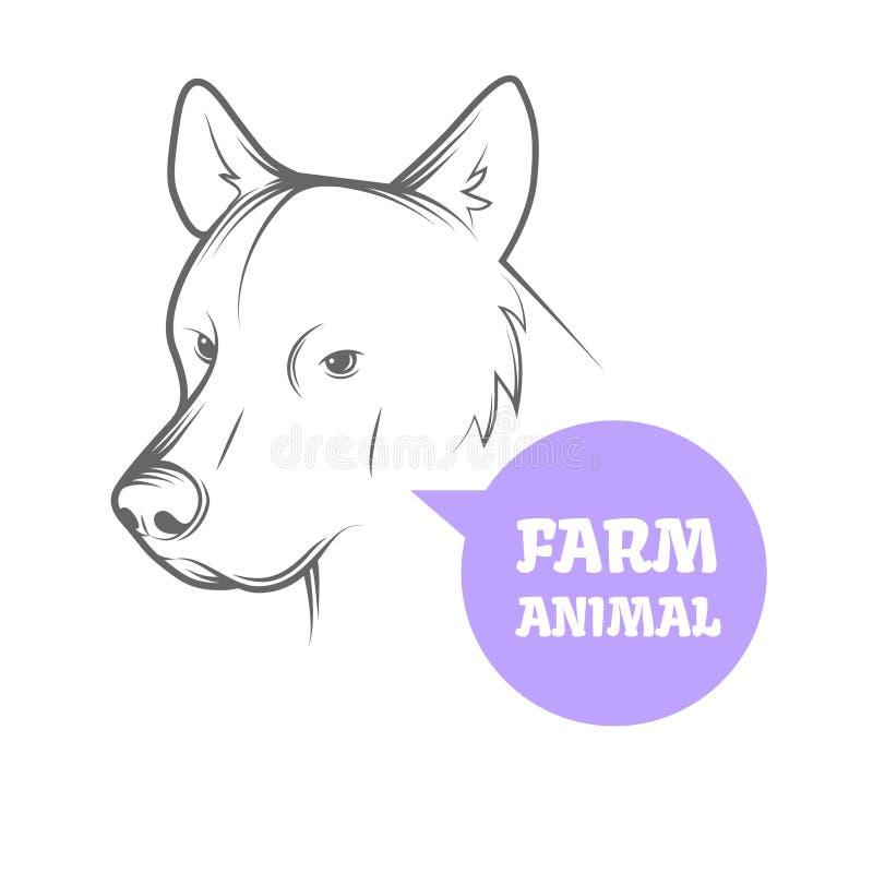 Immagine di vettore di un cane illustrazione vettoriale - Colorazione immagine di un cane ...