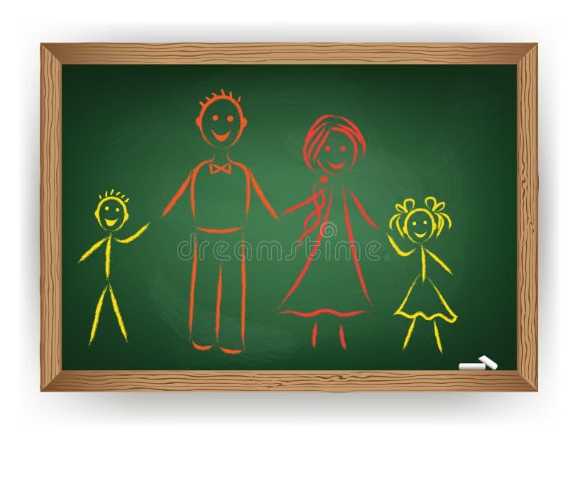 Immagine di vettore. Famiglia illustrazione vettoriale
