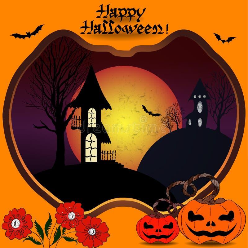 Immagine di vettore Halloween Usi i materiali stampati, i segni, gli oggetti, i siti Web, le mappe, i manifesti, cartoline, imbal royalty illustrazione gratis