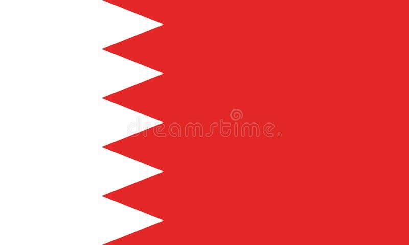 Immagine di vettore per la bandiera del Bahrain Sulla base del funzionario e della bandiera del Bahrein esatta illustrazione vettoriale