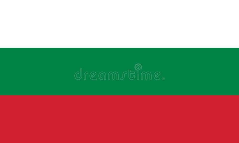 Immagine di vettore per la bandiera della Bulgaria Sulla base del funzionario e della bandiera bulgara esatta illustrazione vettoriale