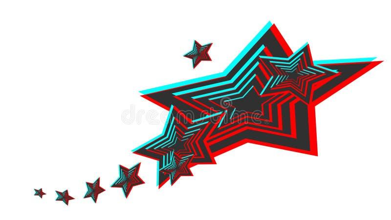 Immagine di vettore di una stella di stile 3d illustrazione di stock
